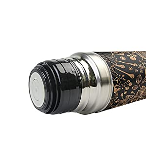 Jennifer Golden Light Coral Leak Proof Water Bottle Insulated Vacuum Stainless Steel Thermos