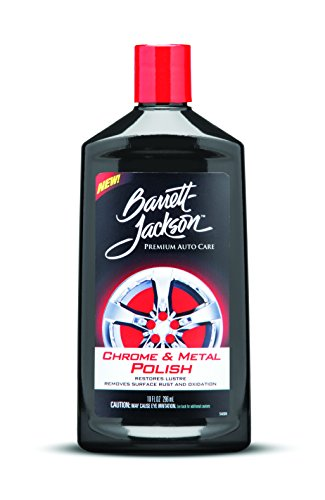 Barrett-Jackson Chrome & Metal Polish - Chrome Cleaner, Metal Cleaner, Aluminum Cleaner, Wheel Cleaner - for Premium Car Care, 9966, 10 oz.