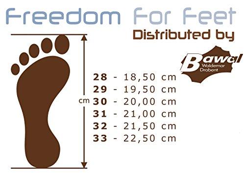 3f freedom for feet Kinder Elastische Turnschuhe ohne Schnürsenkel für Jungen - Atmungsaktiv - Leder Einlegesohlen - Schlüpfen Freizeitschuhe Funktionalität zusätzlich Einlegesohlen Leder