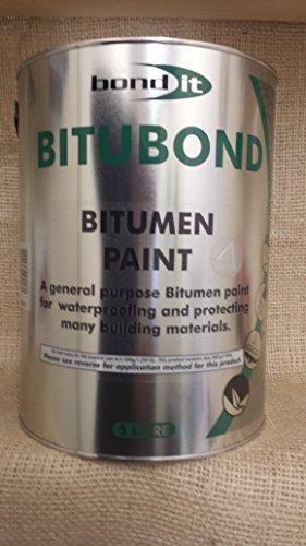 5LTR Bitubond Black Bitumen Paint - roof repair waterproofing all weather  paint Coating