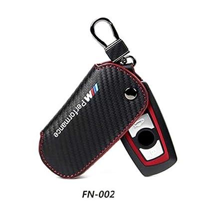 Custodia Portachiavi in Pelle e Fibra di Carbonio per BMW F30 F10 F20 X3 X1 X5 X6 DYBANP
