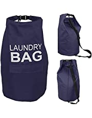 70L Stylish Laundry Backpack, Laundry Hamper with Adjustable Shoulder Strap and Buckle, Washing Bag, Waterproof Storage Tote Bag