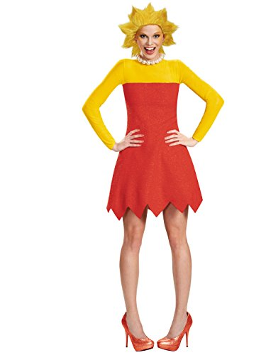 Disguise Women's Lisa Deluxe Adult Costume, Red,