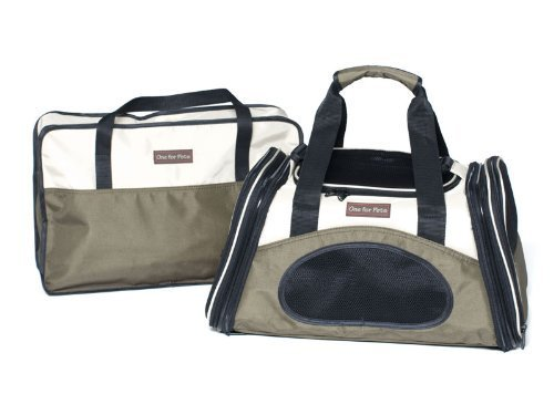 One for Pets The One Bag Expandable Pet Carrier, Small, Olive by One for Pets