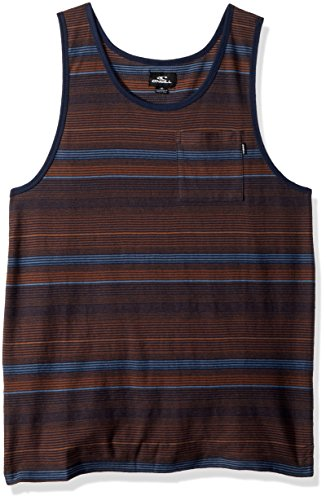 (O'Neill Men's Yarn Dye Standard Fit Tank, Stavros Navy, XL)
