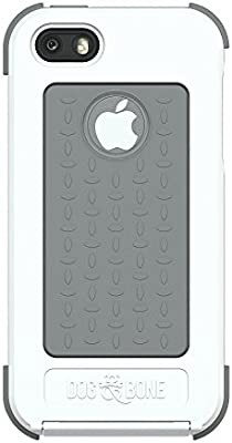 online retailer 5126c d58e3 Dog & Bone Wetsuit Waterproof Case for iPhone 5/5s - Retail Packaging -  White/Grey