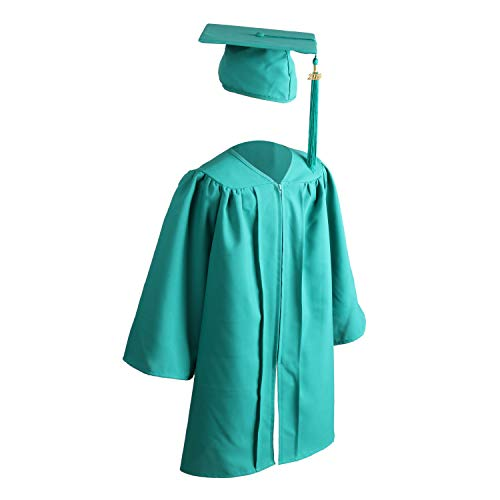 OSBO GradSeason Unisex Matte Kindergarten Graduation Gown Cap Tassel Set 2018 & 2019 (Emerald, 36