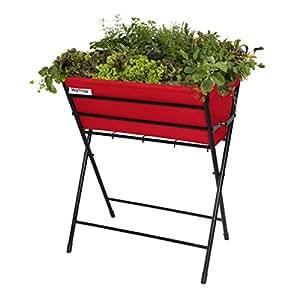 VegTrug POPKT013RD VegTrug Poppy with Red Felt Planter - Black