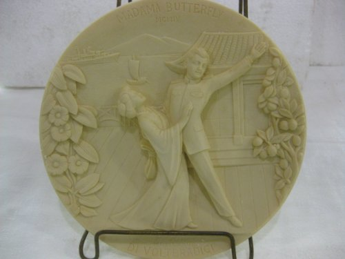 La Scala Grand Opera Collection Madama Butterfly A First Edition In Ivory Alabaster Decorative Plate