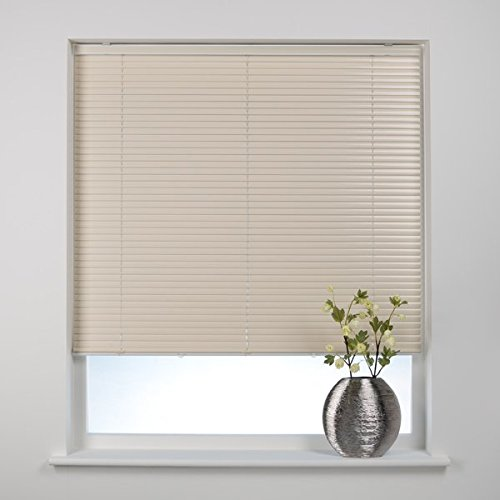 Black, 105cm x 210cm Optimal Products Classic Easy Fit 25mm Aluminium Venetian Blind Home Office Blinds