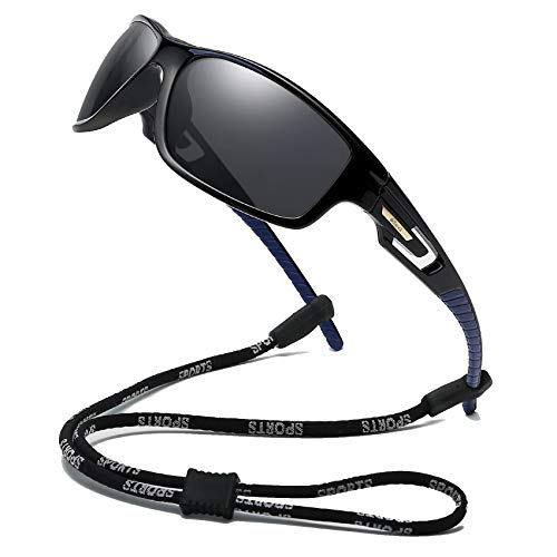 Bevi Polarized Sports Sunglasses Unisex Grilamid TR90 Frame for Men Women Running Cycling ()