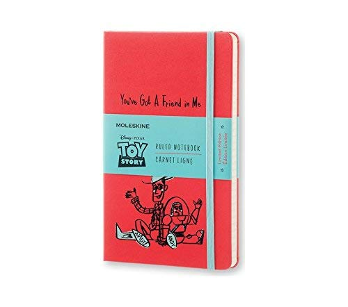Moleskine Toy Story Limited Edition Notebook, Large, Ruled, Geranium Red, Hard Cover (8051272893144) ()