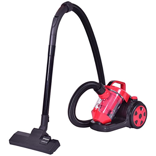Costway Rewind Bagless Canister Vacuum Cleaner Corded Carpet Hard Floor with HEPA Filtration