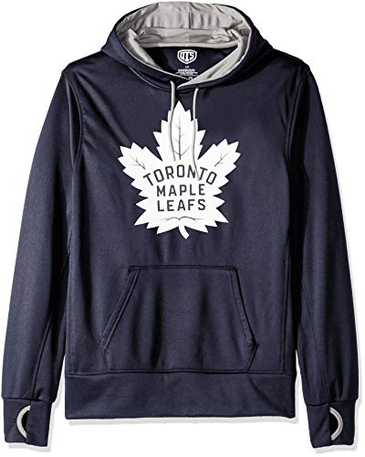 NHL Toronto Maple Leafs Male OTS hooded Pullover, Fall Navy, X-Large