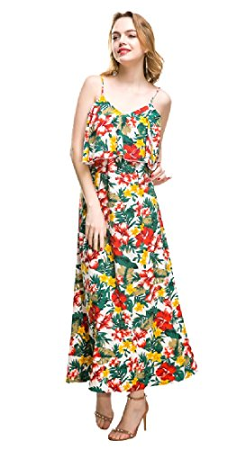 Maxi Women Baggy Coolred Bodycon Sleeveless Summer Oversize 3 Dress Printing Y6AqU