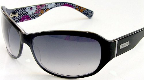 632320801f061 Image Unavailable. Image not available for. Colour  New Coach Sarah S437  S-437 Black Sunglasses ...