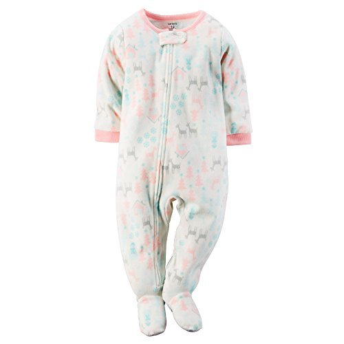 Carters Baby Girls One Piece Footed Fleece Pajamas (24 Months, (Pajamas Stores)