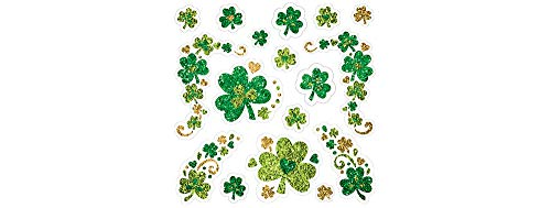 Amscan 390628 Shamrock Glitter Body Jewelry Accessory, One Size, Multicolor