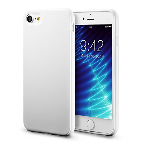 White Back Case - iPhone 7 White Case/iPhone 8 White Case, technext020 Shockproof Ultra Slim Fit Silicone TPU Soft Gel Rubber Cover Shock Resistance Protective Back Bumper for iPhone 7/iPhone 8 White