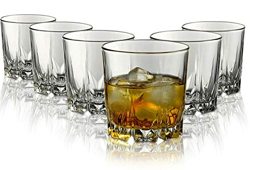 Pasabahce Crystal Cut Whiskey Glass 300ml    Set of 6