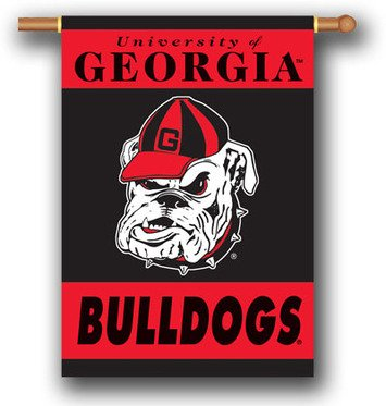 Georgia Bulldogs 96107 2-Sided 28-by-40 Inch House Banner with Pole Sleeve