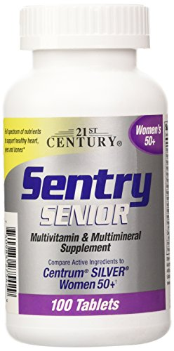 21st Century Sentry Senior Women 50 Plus Tablets, 100 Count (100 Tab Multivitamins Senior)