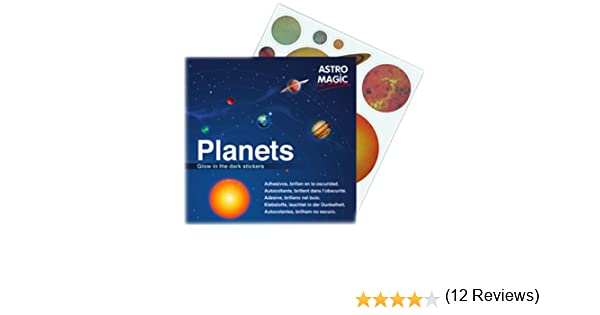 Melquiades - Sistema Solar Luminiscentes - 24 Adhesivo - Las auténticas pegatinas Luminosas de Astro Magic - 100 x 100 original: Amazon.es: Bebé