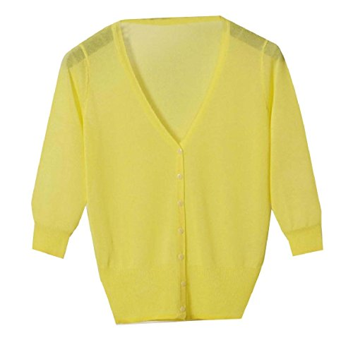 威信菊リマークTootess Women's Vest Cardigan Basic Sunscreen Knitting Coat Button Shirt Top