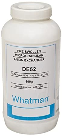 GE Whatman 4057-050 DE52 Anion Exchange Preswollen Microgranular Diethylaminoethyl Cellulose, 500g