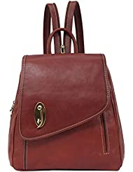 Banuce Italian Leather Convertible Sling Backpack Purse for Women Tote bag