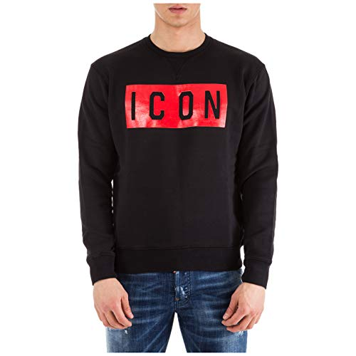 DSQUARED2 Men's Icon Sweatshirt Black Medium