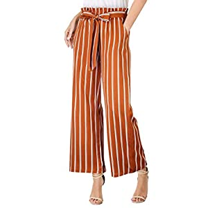 Casual Trouser Elastic Waist Pants with Pockets