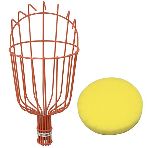 Aobiny Fruit Picker,Fruit Picker Basket Tree Fruits Picking Harvesting Tool Gardening Supplies Metal