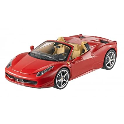 Beau Hot Wheels BCJ89 Ferrari 458 Spider F1 Red Elite Edition 1/18 Diecast Car  Model
