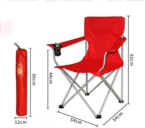 XXHDEE Outdoor Folding Chair Viewing Bench Back Seat Portable Chair Fishing Chair 54x54x92cm Lounge chair