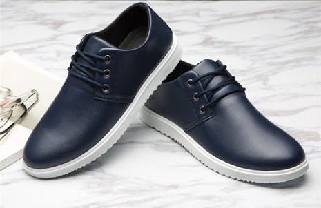 in in Mocassini grande dimensioni casual grandi pelle Blu 46 particolare di uomo allacciano le taglia formato da di scarpe Bebete5858 CRgYqx5wSx