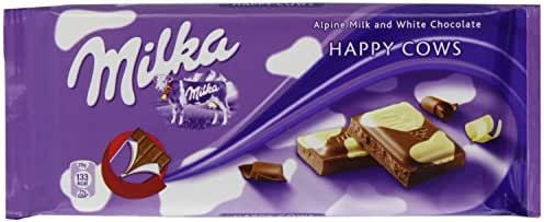 World's Best Milka Chocolate - Happy Cows, 10 Bars