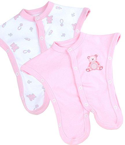 BabyPrem Preemie Baby Footies 2 SCBU Neonatal Clothes 1.5-3.5lb Pink PREM 1