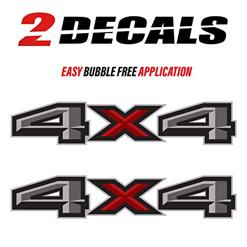 TiresFX Ford F150 4X4 Decals Bedside Truck Stickers (2015, 2016, 2017, 2018) - Set of 2