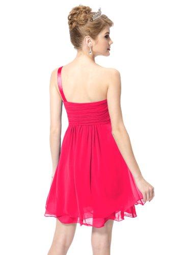 Ever Pretty Macrame One Shoulder BNWT Rhinestones Ruffles Wedding Dress 03321