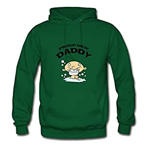 Creative Proud New Daddy Green Women Cotton Sweatshirts Fitted Funny X-large