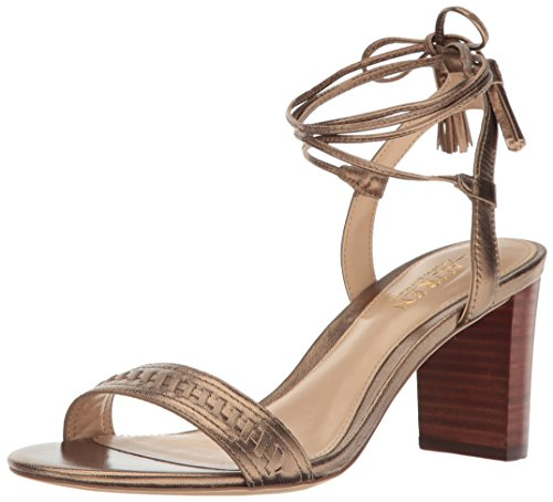 Lauren Ralph Lauren Women's Helaine, Gold, 8 B US (Ralph Lauren Gold Sandals)