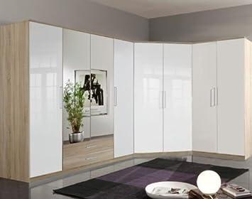 GermanicaTM BREMEN 8-Door Modular Corner Wardrobes Bedroom Furniture ...