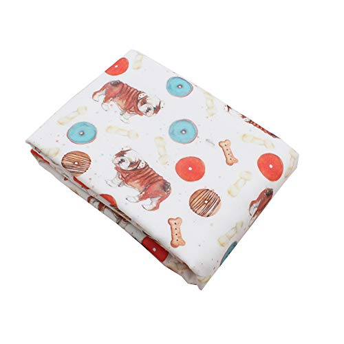 CHILDREN'S GANG Baby Crib Blankets, 3 Layer Cotton Muslin Receiving Blanket for Toddler Boys and Girls 47x47 Inch (Dog-2)