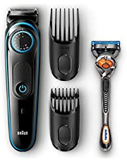 Braun Beard Trimmer BT5040 with Precision dial, 2 combs and Gillette Fusion5 ProGlide razor
