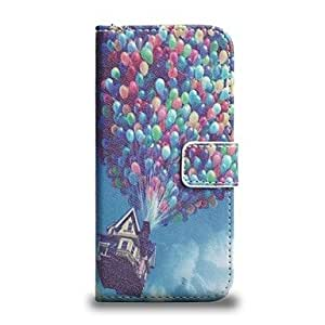 LCJ Air Balloon Pattern PU Leather Full Body Wallet Case with Stand and Card Slot Cash Holder Function for iPhone 6