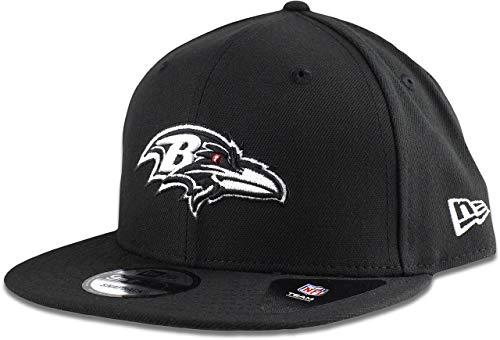New Era Baltimore Ravens Hat NFL Black White 9FIFTY Snapback Adjustable Cap Adult One Size]()
