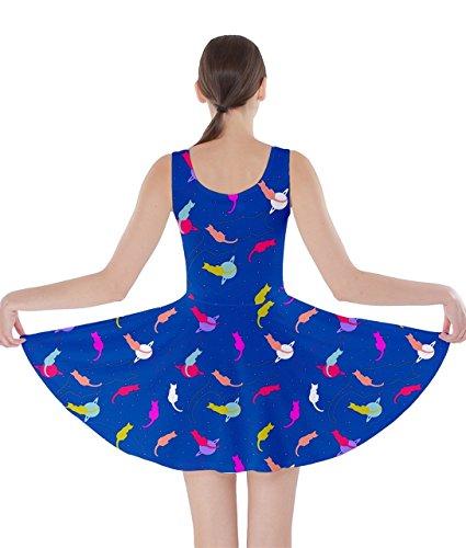 CowCow Damen Kleid bunt Gr. XXX-Large, blau