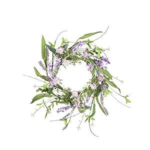 "Sullivans 4.5"" Artificial Lavender Wreath 1"