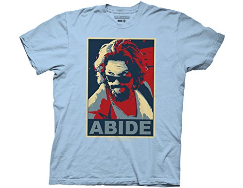 Ripple Junction Big Lebowski Abide Adult T-Shirt 3XL Light Blue -